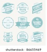 premium quality labels and... | Shutterstock .eps vector #86655469