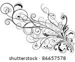 floral ornamental design.swirl...   Shutterstock .eps vector #86657578