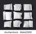 origami backgrounds | Shutterstock .eps vector #86662000