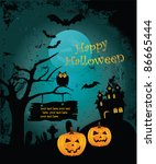 halloween background. vector | Shutterstock .eps vector #86665444