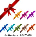 gift bow set | Shutterstock .eps vector #86673478