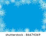 winter background with... | Shutterstock .eps vector #86674369