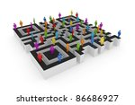 Labyrinth Shape Of Qr Code And...