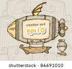 Cartoon Airship. Advertising O...