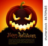 halloween illustration with... | Shutterstock .eps vector #86709685