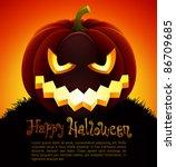 halloween illustration with... | Shutterstock .eps vector #86709685