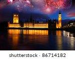 Big Ben With Firework ...