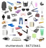 the big collection of different ... | Shutterstock . vector #86715661