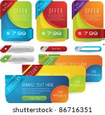 web sale banners with... | Shutterstock .eps vector #86716351