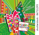Christmas Card. Gift Boxes...