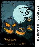 halloween template with night... | Shutterstock . vector #86725801