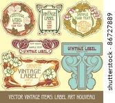 vector vintage items  label art ...   Shutterstock .eps vector #86727889