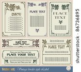 vintage style labels on... | Shutterstock .eps vector #86736895
