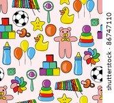 toys seamless pattern | Shutterstock .eps vector #86747110