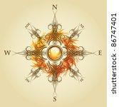 vintage compass | Shutterstock .eps vector #86747401