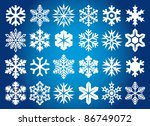 collection of snowflakes | Shutterstock .eps vector #86749072