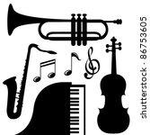 music instruments | Shutterstock .eps vector #86753605