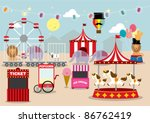fun fair vector/illustration - stock vector