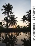 sunset on kerala backwaters.... | Shutterstock . vector #86768494