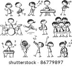 music doodles   Shutterstock .eps vector #86779897