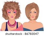 hairstyle and make up of...