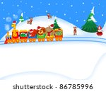 christmas illustration | Shutterstock . vector #86785996
