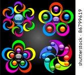 set of vector design elements | Shutterstock .eps vector #86799619