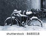 Night Shot Of A Bike Under A...