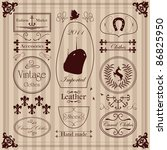 vintage clothing labels and... | Shutterstock .eps vector #86825950