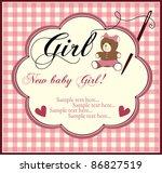 baby girl shower invitation card | Shutterstock .eps vector #86827519