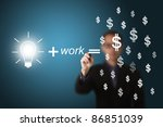 idea and work can make lots of...   Shutterstock . vector #86851039