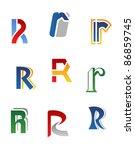 set of alphabet symbols and... | Shutterstock .eps vector #86859745