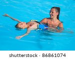 mother and son have fun... | Shutterstock . vector #86861074