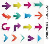 vector arrows set | Shutterstock .eps vector #86877622
