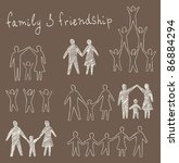 family and friendship symbols... | Shutterstock .eps vector #86884294