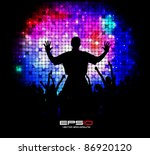 music event background. vector...