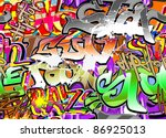 graffiti wall vector abstract... | Shutterstock . vector #86925013