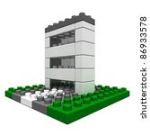 office buildings  made of toy... | Shutterstock . vector #86933578
