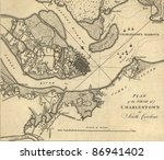 map of the siege of charleston  ... | Shutterstock . vector #86941402