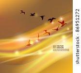 birds flying in v shape vector... | Shutterstock .eps vector #86951272