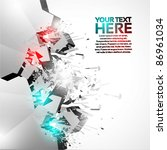 3d shiny explosion background | Shutterstock .eps vector #86961034