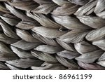 full frame abstract background of braided natural filament - stock photo
