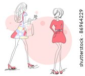 two young women | Shutterstock .eps vector #86964229