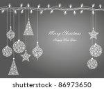 background of christmas lights  ... | Shutterstock .eps vector #86973650
