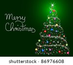 merry christmas card | Shutterstock . vector #86976608