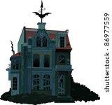 illustration of a spooky...   Shutterstock .eps vector #86977559