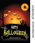 october 31 halloween is a... | Shutterstock .eps vector #87005819