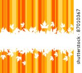 falling leaves on colorful... | Shutterstock .eps vector #87010367