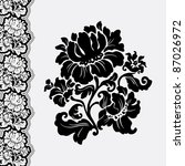 flower and border lace | Shutterstock . vector #87026972