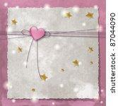 template frame design for baby... | Shutterstock .eps vector #87044090